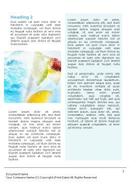 Soft Drink Word Template Second Inner Page