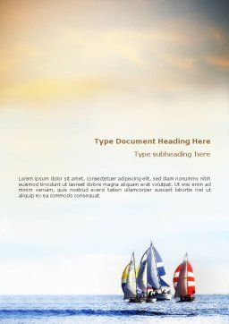 Sailing Word Template, Cover Page, 01809, Sports — PoweredTemplate.com
