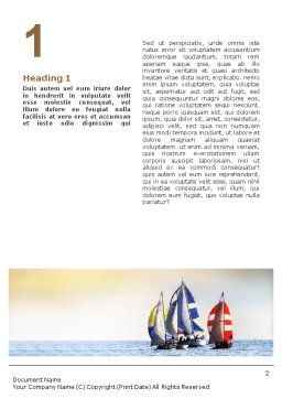 Sailing Word Template, First Inner Page, 01809, Sports — PoweredTemplate.com
