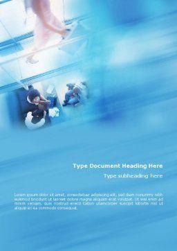 Modern Business Communication Rhythm Word Template, Cover Page, 01810, Business — PoweredTemplate.com