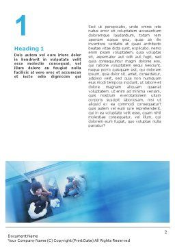 Modern Business Communication Rhythm Word Template, First Inner Page, 01810, Business — PoweredTemplate.com