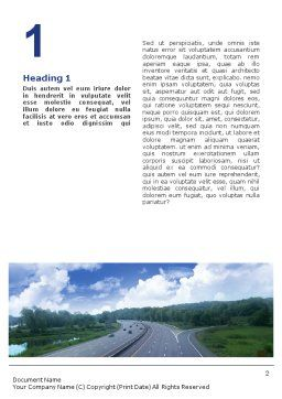 Highway In Twilight Word Template First Inner Page