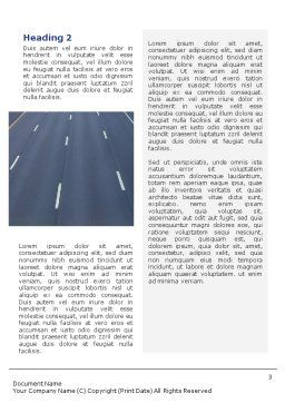 Highway In Twilight Word Template Second Inner Page