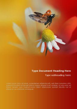 Ladybug Word Template, Cover Page, 01812, Nature & Environment — PoweredTemplate.com