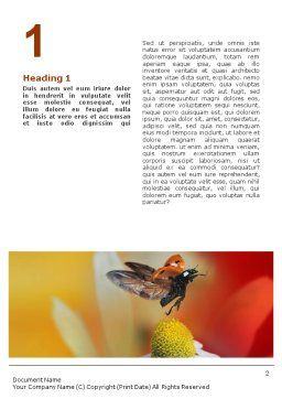 Ladybug Word Template, First Inner Page, 01812, Nature & Environment — PoweredTemplate.com