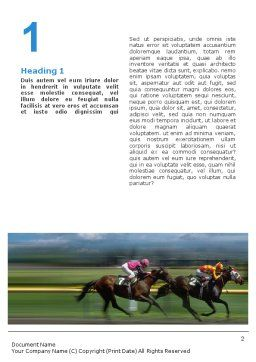 Horse Races Word Template, First Inner Page, 01813, Sports — PoweredTemplate.com