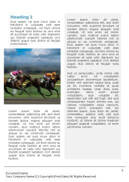 Horse Races Word Template, Second Inner Page, 01813, Sports — PoweredTemplate.com
