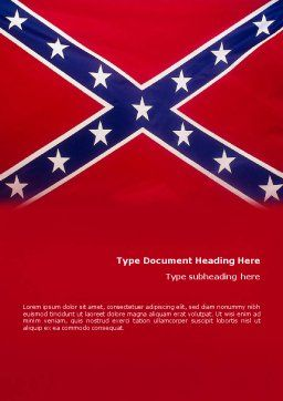 The Battle Flag of the Confederacy Word Template, Cover Page, 01814, Flags/International — PoweredTemplate.com