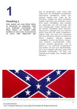 The Battle Flag of the Confederacy Word Template, First Inner Page, 01814, Flags/International — PoweredTemplate.com