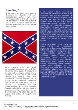 The Battle Flag of the Confederacy Word Template, Second Inner Page, 01814, Flags/International — PoweredTemplate.com