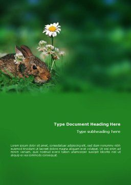 Rabbit Word Template Cover Page
