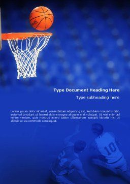 Basketball Match Word Template, Cover Page, 01816, Sports — PoweredTemplate.com