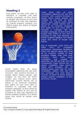 Basketball Match Word Template, Second Inner Page, 01816, Sports — PoweredTemplate.com