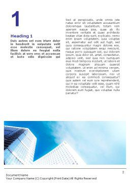 Business Meeting Outdoor Word Template, First Inner Page, 01818, Business — PoweredTemplate.com