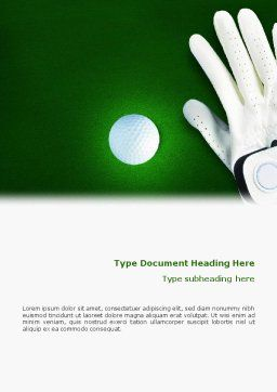 Golf Equipment Word Template, Cover Page, 01820, Sports — PoweredTemplate.com