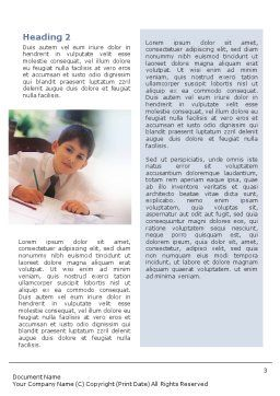 Schoolboy Word Template, Second Inner Page, 01822, Education & Training — PoweredTemplate.com