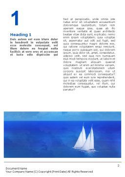 Sea Horizon Word Template First Inner Page