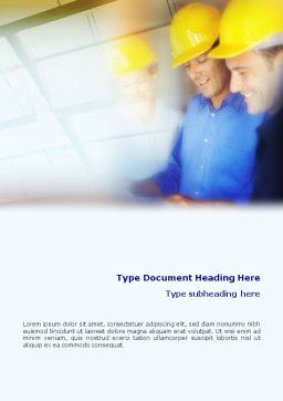 Construction Draft Discussion Word Template, Cover Page, 01824, Construction — PoweredTemplate.com
