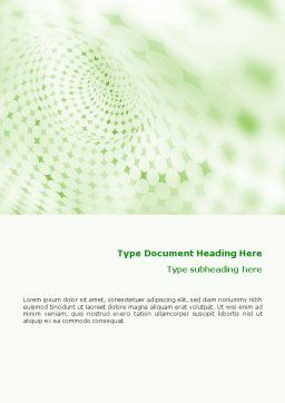 Green Texture Word Template, Cover Page, 01827, Abstract/Textures — PoweredTemplate.com
