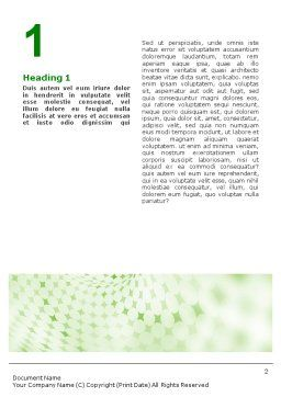 Green Texture Word Template, First Inner Page, 01827, Abstract/Textures — PoweredTemplate.com