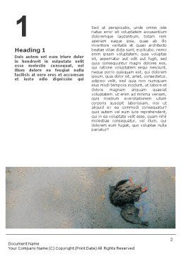 Water Pollution Word Template, First Inner Page, 01828, Nature & Environment — PoweredTemplate.com