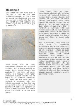 Water Pollution Word Template, Second Inner Page, 01828, Nature & Environment — PoweredTemplate.com