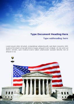 Supreme Court Word Template, Cover Page, 01831, America — PoweredTemplate.com