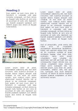 Supreme Court Word Template, Second Inner Page, 01831, America — PoweredTemplate.com