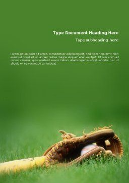 Baseball Glove and Bat Word Template, Cover Page, 01833, Sports — PoweredTemplate.com