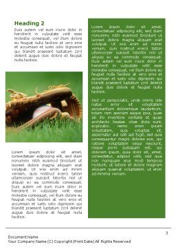 Baseball Glove and Bat Word Template, Second Inner Page, 01833, Sports — PoweredTemplate.com