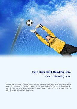 Goalkeeper Word Template, Cover Page, 01835, Sports — PoweredTemplate.com