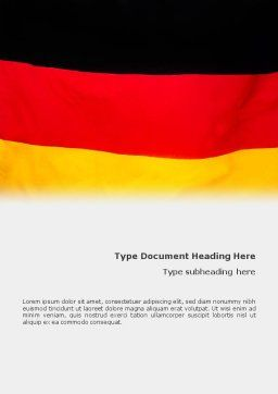 German Flag Word Template Cover Page
