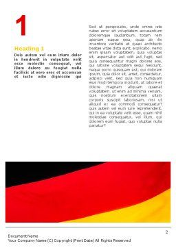 German Flag Word Template First Inner Page