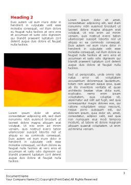German Flag Word Template Second Inner Page