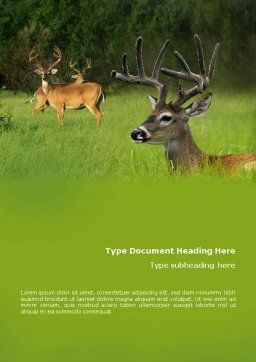 Deer Word Template Cover Page