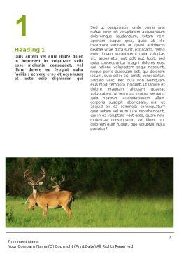 Deer Word Template First Inner Page