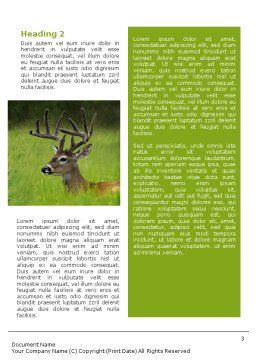 Deer Word Template Second Inner Page