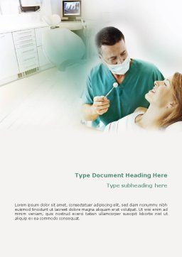 Dental Help Word Template, Cover Page, 01840, Medical — PoweredTemplate.com