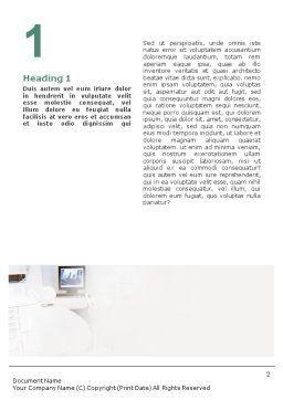 Dental Help Word Template, First Inner Page, 01840, Medical — PoweredTemplate.com
