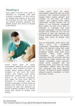 Dental Help Word Template, Second Inner Page, 01840, Medical — PoweredTemplate.com