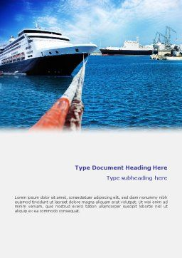 Liner Word Template, Cover Page, 01844, Cars/Transportation — PoweredTemplate.com