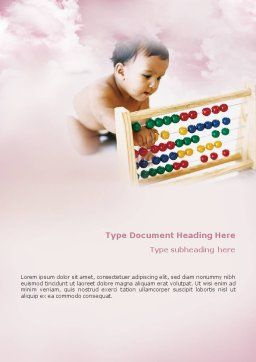Baby Learning Word Template Cover Page