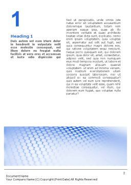 Blue Grid Word Template, First Inner Page, 01847, Abstract/Textures — PoweredTemplate.com