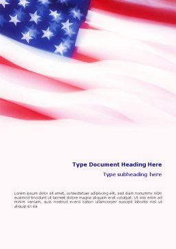 Flag of the United States of America Word Template Cover Page