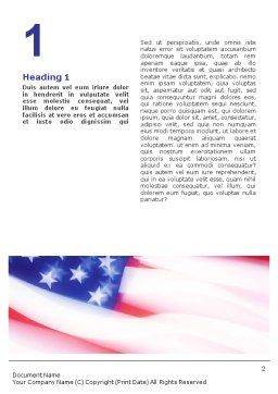 Flag of the United States of America Word Template First Inner Page