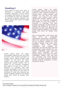 Flag of the United States of America Word Template Second Inner Page