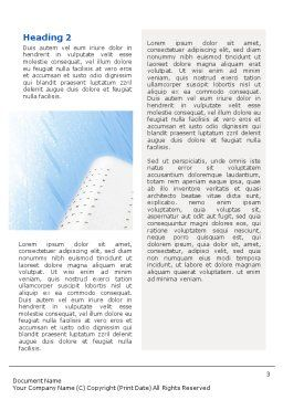City Construction Word Template, Second Inner Page, 01853, Construction — PoweredTemplate.com