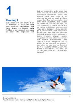 Flying Flamingo Word Template, First Inner Page, 01854, Nature & Environment — PoweredTemplate.com