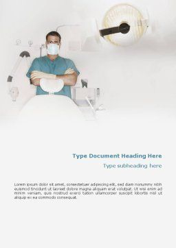 Dental Medicine Word Template, Cover Page, 01857, Medical — PoweredTemplate.com