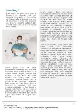 Dental Medicine Word Template, Second Inner Page, 01857, Medical — PoweredTemplate.com